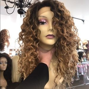 Accessories - Wig Long curly new blonde mix ombré Long new 2019